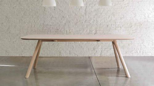 Tavolo da pranzo moderno / in MDF / in frassino / rettangolare AKI by Emilio Nanni Traba'