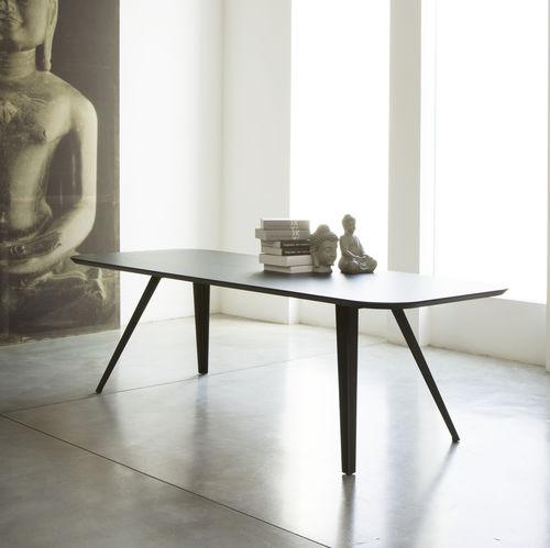 Tavolo da pranzo moderno / in MDF / in frassino / rettangolare AKI-MET by Emilio Nanni Traba'