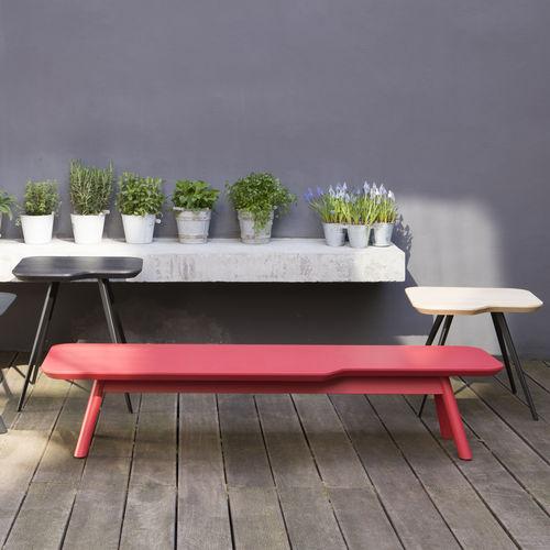 Tavolino basso moderno / in MDF / in faggio / in frassino AKI SMALL by Emilio Nanni Traba'