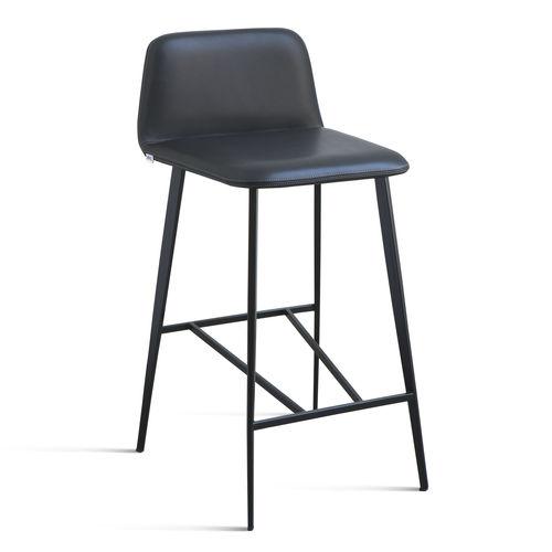 Sedia alta moderna / imbottita / in tessuto / in pelle BARDOT MET by Emilio Nanni Traba'
