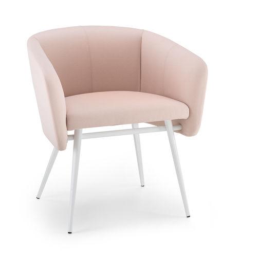 sedia moderna / imbottita / con braccioli / in tessuto