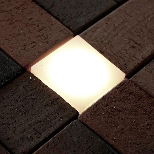 luce ad incasso / LED / quadrata / da esterno