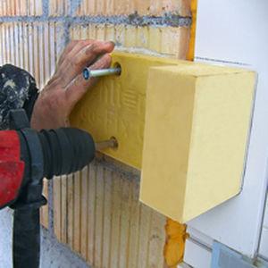 sistema di fissaggio in polietilene / per facciata / per muratura