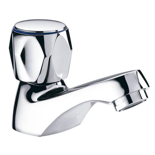 miscelatore per lavabo / in ottone cromato / da bagno / 1 foro