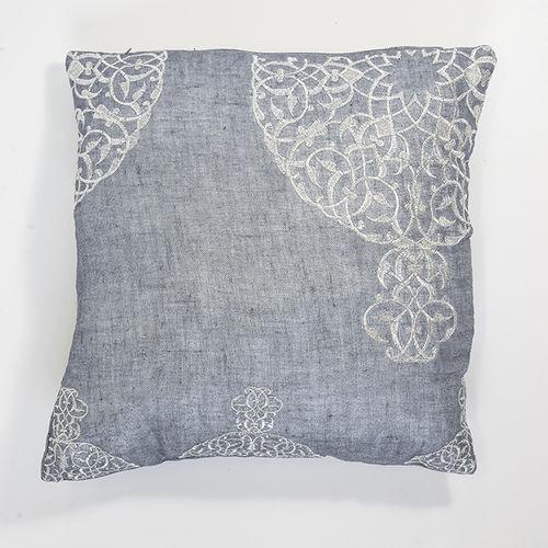 cuscino per divano / quadrato / a motivi / in lino