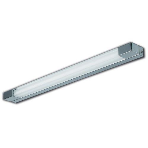 applique moderna / da bagno / in metallo cromato / a lampada fluorescente