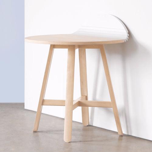 tavolo moderno / in faggio / tondo / pieghevole
