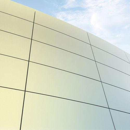 rivestimento di facciata in metallo / dipinto / prelaccato / liscio