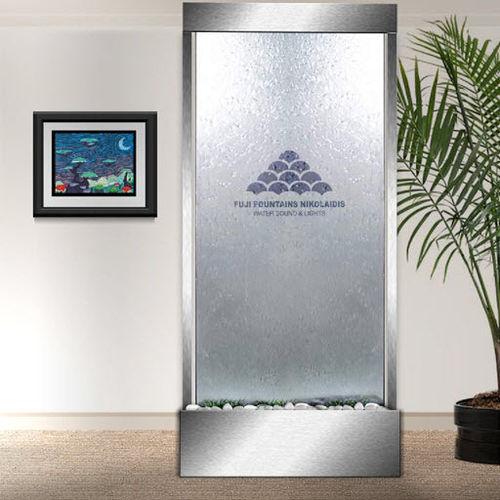 muro d'acqua in vetro / autoportante / acciaio inossidabile