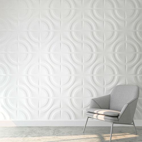 Pannello decorativo in plastica / da parete / 3D / opaco CIRCLES Habitarte SAS