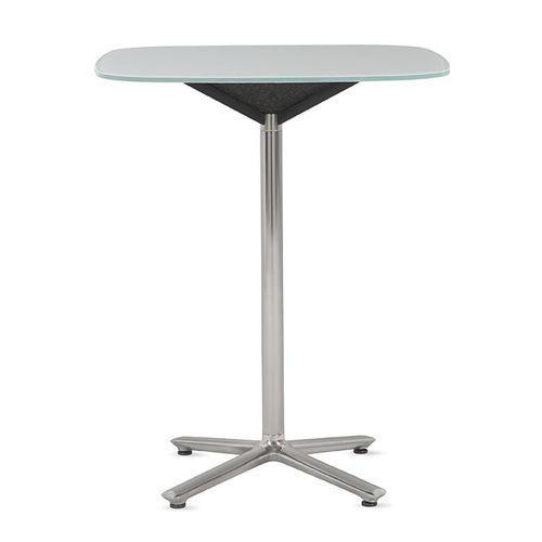 tavolino moderno / in alluminio lucido / in laminato / quadrato