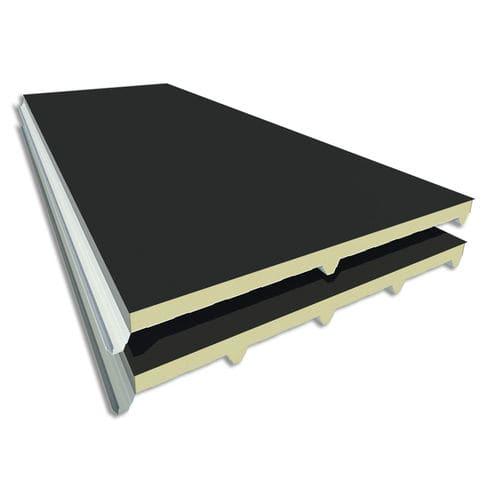 pannello sandwich per tetto / rivestimento in acciaio / anima in poliuretano PUR / anima in poliisocianurato PIR