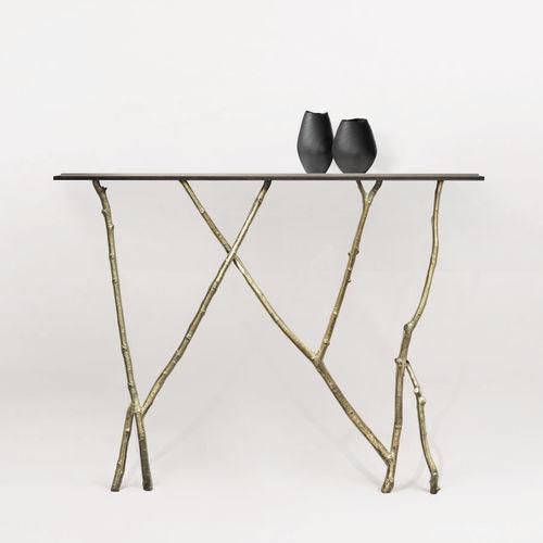 Tavolo console / design organico / in vetro / in bronzo BRANCHE Mobilier De Style