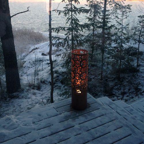 lampioncino da giardino / moderno / in lamiera forata / IP65