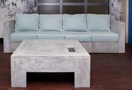 divano modulare / moderno / da esterno / in calcestruzzo