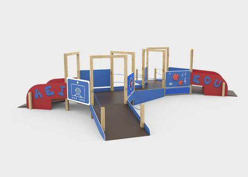struttura ludica per parco giochi / in plastica / in legno / in metallo