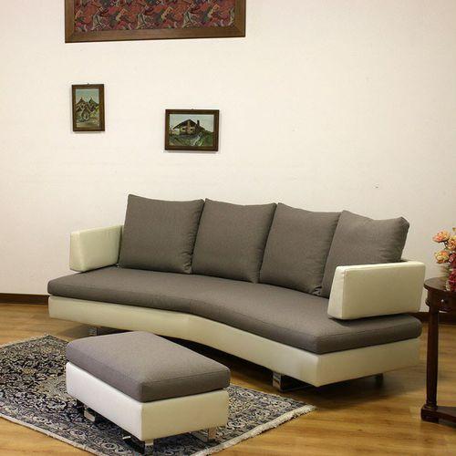 divano a semicerchio / moderno / in pelle / in tessuto