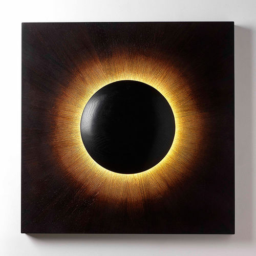 Applique moderna / in quercia / LED / quadrata CORONA  David Tragen