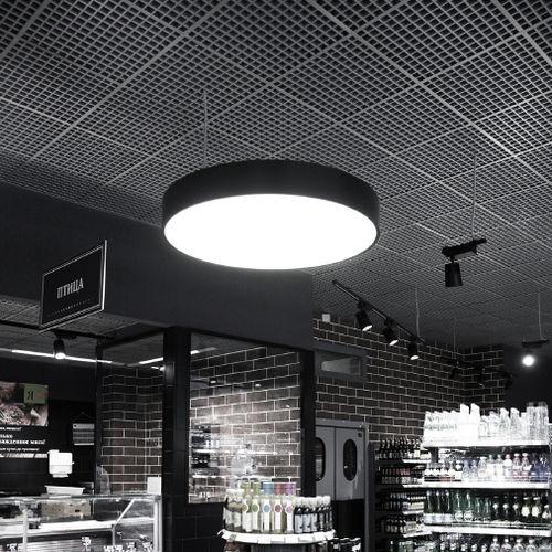 luce a sospensione / LED / a lampada fluorescente / tonda