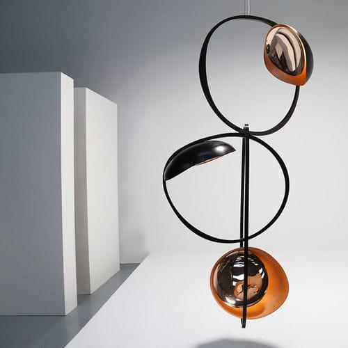lampada a sospensione / moderna / in bronzo / LED