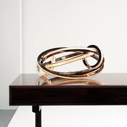 lampada da tavolo / moderna / in bronzo / in vetro