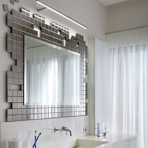 Specchio da bagno a muro / luminoso / sospeso / per camera da letto ...