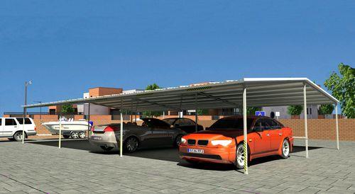 tettoia per posto-auto in acciaio galvanizzato / contract / prefabbricata