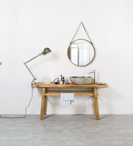 mobile lavabo da appoggio / in legno massiccio / moderno