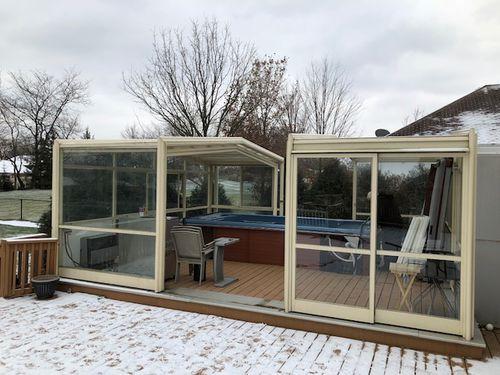 copertura per spa in vetro / telescopica