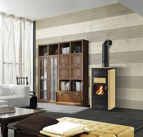 stufa-caldaia a legna / moderna / in metallo