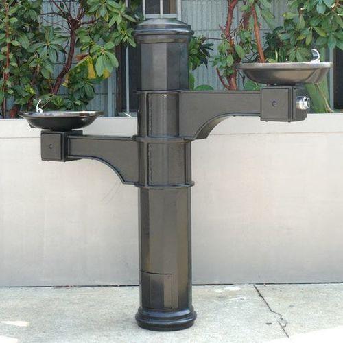 fontanella da esterno / in acciaio / in ghisa di alluminio / non specificato
