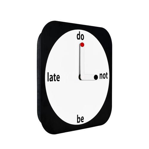 orologio moderno / analogico / a muro / bianco