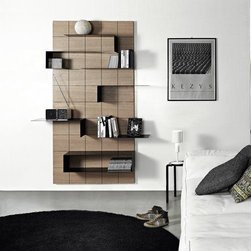 mensola / moderno / in legno / in metallo verniciato