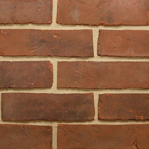 mattone pieno / per facciata / rosso / liscio