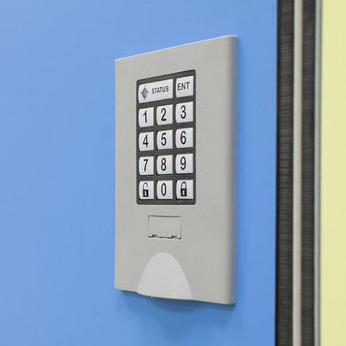 serratura elettronica / per armadietto da spogliatoio / a combinazione / con impugnatura