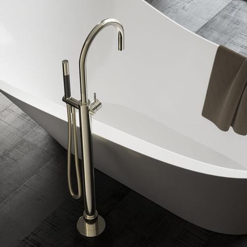miscelatore per vasca / a pavimento / in ottone / da bagno