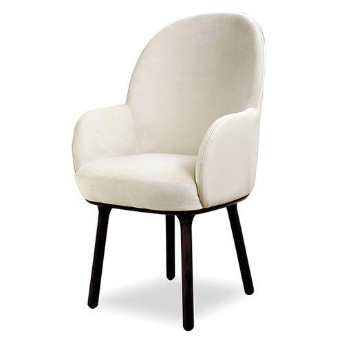 sedia da pranzo moderna / imbottita / con braccioli / in tessuto