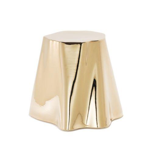 tavolo d'appoggio moderno / in legno / in ceramica smaltata / bianco