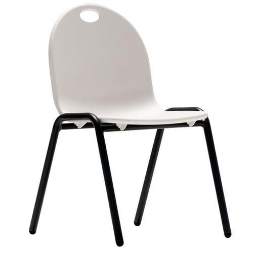 sedia moderna / impilabile / per bambini / in acciaio verniciato