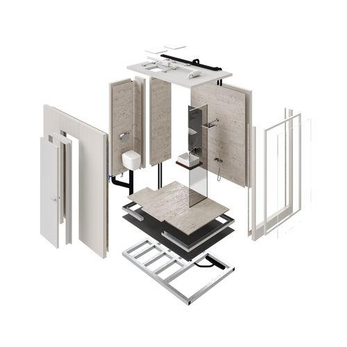 bagno moderno / in acciaio galvanizzato / prefabbricato / su misura