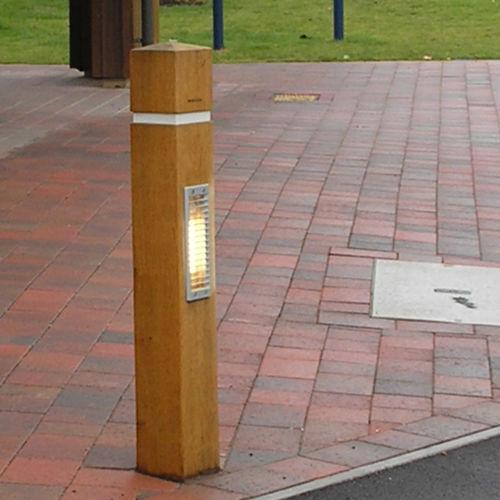 lampioncino da giardino / per spazio pubblico / moderno / in ghisa di alluminio