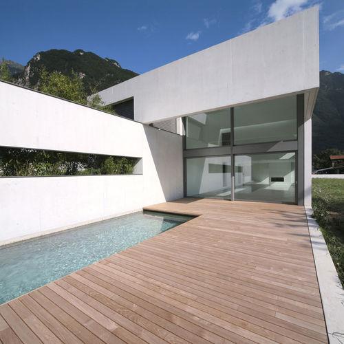 pannello in vetro laminato / di protezione solare / decorato / per interni