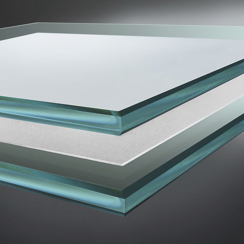 pannello in vetro laminato / di sicurezza / di protezione solare / decorato