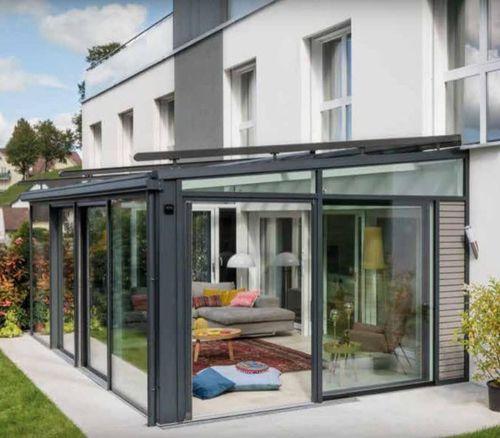 veranda in alluminio / in PVC