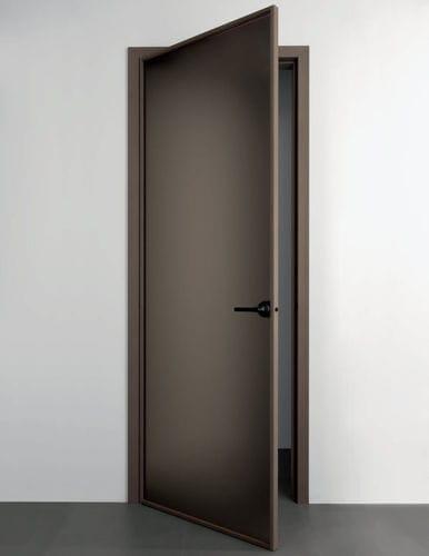 porta da interni / battente / in legno / in alluminio