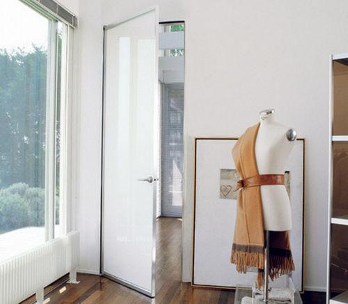 Porta da interni / battente / in alluminio / vetrata QUADRA  ALBED