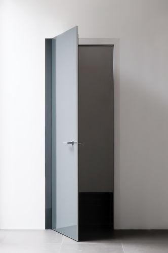 Porta da interni / battente / in vetro / filomuro LEVEL by Paolo Cappello  ALBED