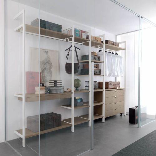 Cabina armadio da parete / moderna / in legno / in vetro SOLO ALBED