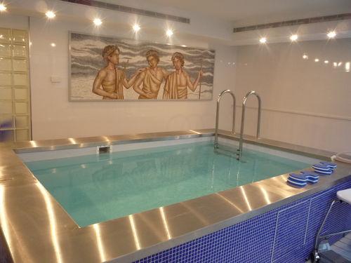 piscina fuoriterra / in acciaio inossidabile / in mosaico / da interno