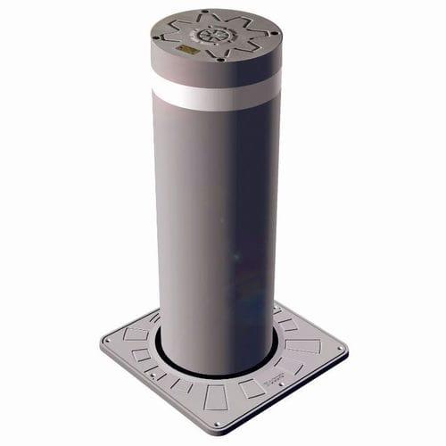 colonna di controllo accessi / in acciaio inossidabile / a scomparsa / idraulica